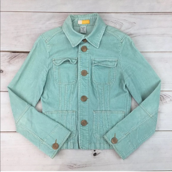 Anthropologie Jackets & Blazers - Tulle Corduroy Stretchy Crop Button Up Jacket
